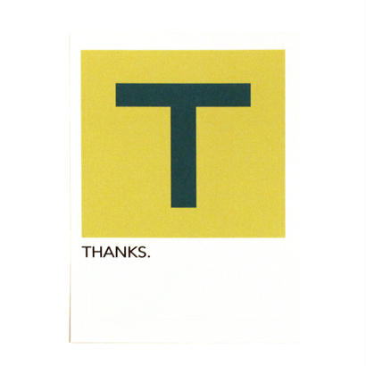 "WRITE&DRAW.  ORIGINAL GRAPHIC CARD ""THANKS"""