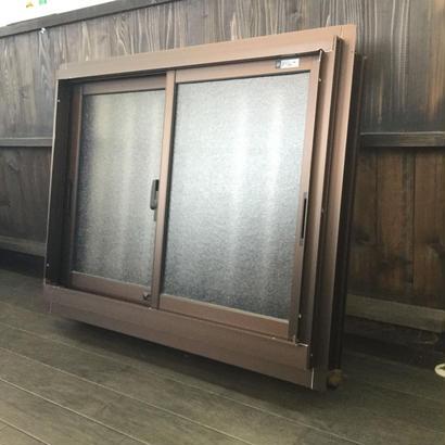 YKK AP 面格子付き引違い窓 フレミング W785×H602 ※一部曲がりあり アルミサッシ