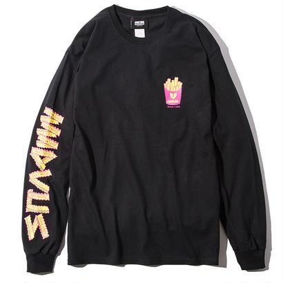 Deviluse Fries L/S T-shirts Black