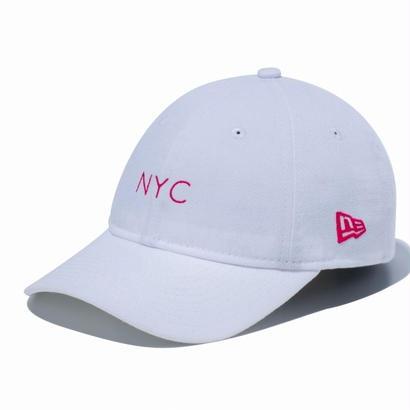 【キッズ】NEWERA kids Youth 9TWENTY クロスストラップ NYCミニロゴ ホワイト × ストロベリー