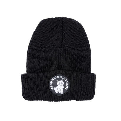 RIPNDIP Stop Being A Pussy Ribbed Beanie BLACK