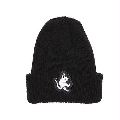 RIPNDIP Hang In There Ribbed Beanie BLACK