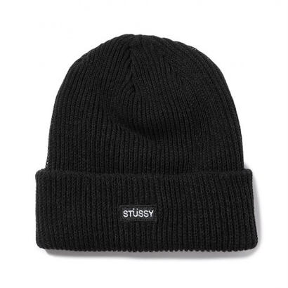 STUSSY Small Patch Watchcap Beanie BLACK