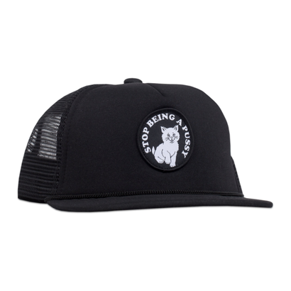 RIPNDIP STOP BEING A PUSSY MESH TRUCKER BLACK