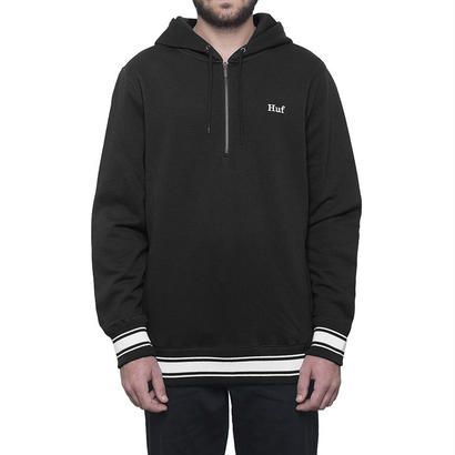 HUF RELAY FRENCH TERRY P/O HOODIE BLACK