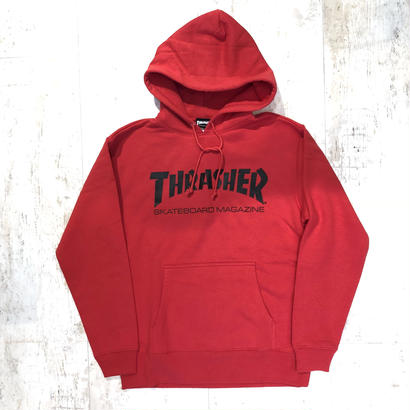 THRASHER MAG LOGO HOODIE RED