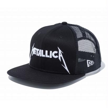 NEW ERA PROBITY METALLICA LOGO MESH CAP BLACK