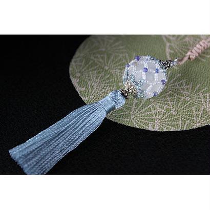 帯飾り*久寿玉(氷襲)