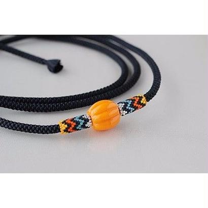 帯締め*zigzag/orange