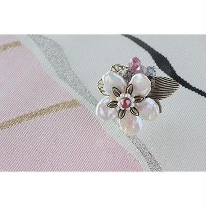 帯留*山桜