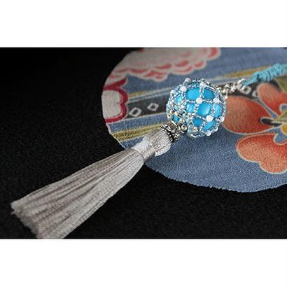 帯飾り*久寿玉(天色)