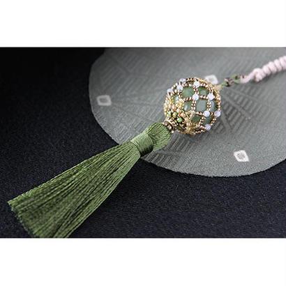 帯飾り*久寿玉(翡翠色)