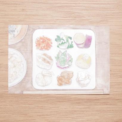 白井裕子  ポストカード  ランチ