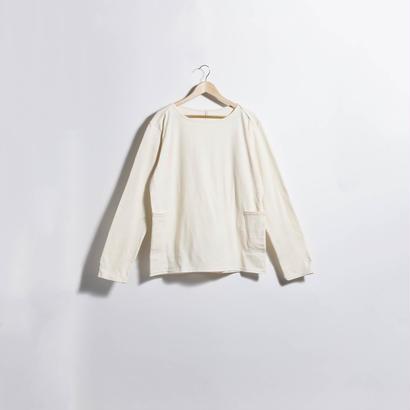 ダブルポケットカットソー WHITE