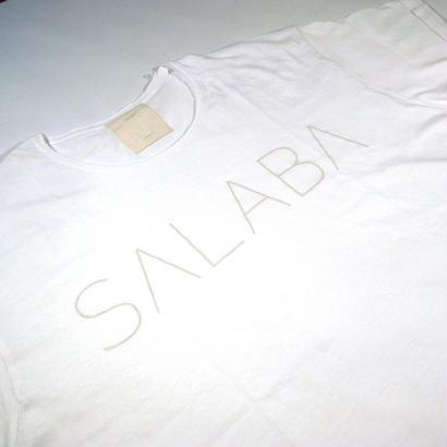 SALABA ロゴTシャツ WHITE       online限定