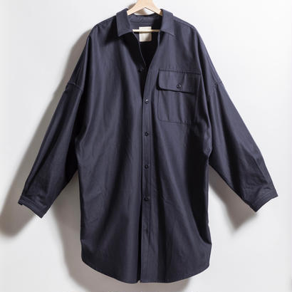 BIGシャツコート NAVY