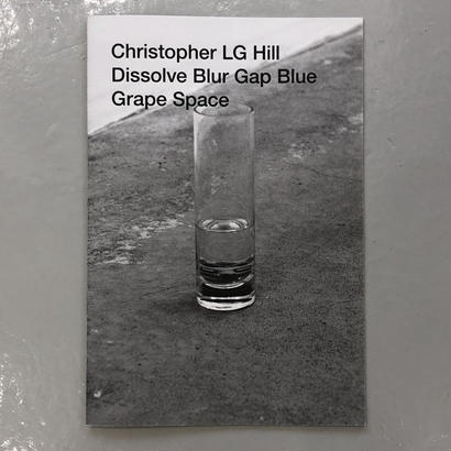 "Christopher LG Hill ""Dissolve Blur Gap Blue Grape Space"""