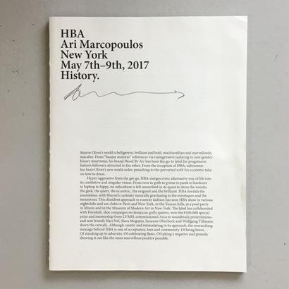 "Ari Marcopoulos ""HBA Ari Marcopoulis NY May 7th.9th, 2017"""