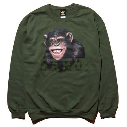 チンパンジーSARUスウェット[KHAKI]