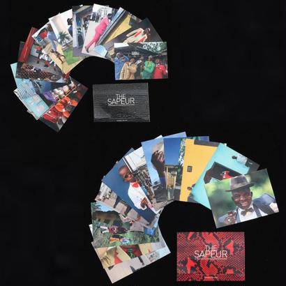 サプール・ポストカード12枚セットx2(24枚)・黒と赤
