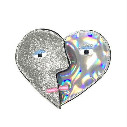 heart shape brooch/Silver