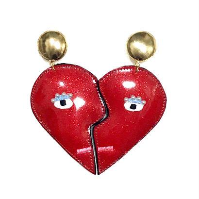 heart shape earrings(pierced earrings)