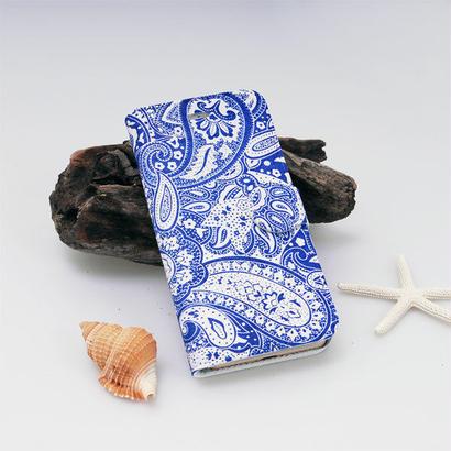 スマホケース Clear 紋章 BL ペイズリー 手帳型 iPhone7専用