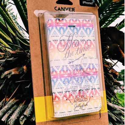 スマホケース ジェリーフィッシュ Textiles Patterns Tinted Ortiga 手帳型