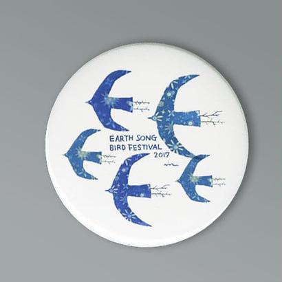 缶バッチ  Earth Bird