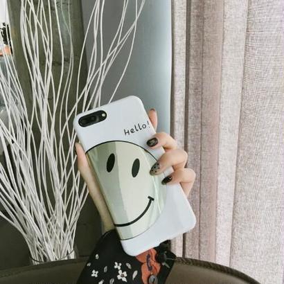 《即納》スマイルwhite iPhone7/8ケース