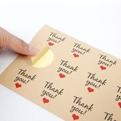 《即納》Thank you !  ♡ステッカー /1シート12枚×5シートset