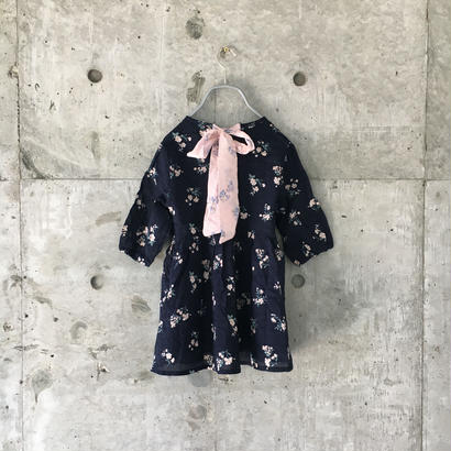 kids flower print one-piece