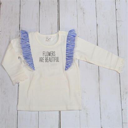 WILL MERY / ウィルメリー フリル付きプリントロゴTシャツ