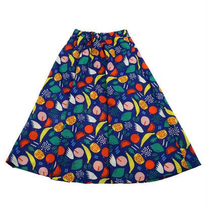 Caldia / カルディア お揃いカラフルフルーツ柄 ママ用フレアスカート