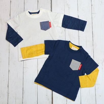 Daddy Oh Daddy / ダディオーダディ 日本製 レイヤードTシャツ 2点セット