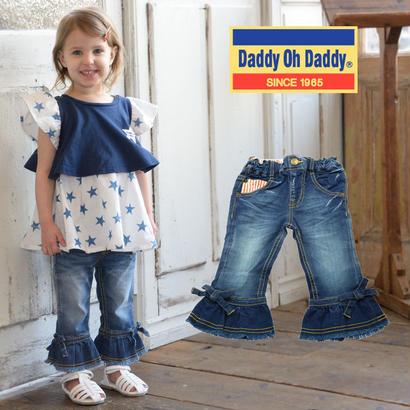 Daddy Oh Daddy / ダディオーダディ 8分丈ストレッチフレアデニムパンツ