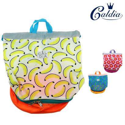 Caldia / カルディア 総柄切り替えプールバッグ