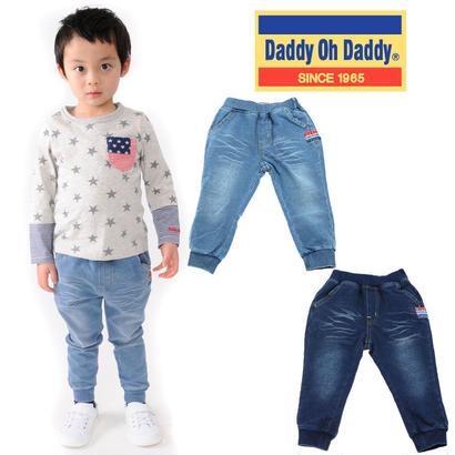 Daddy Oh Daddy / ダディオーダディ ストレッチミニ裏毛裾リブ9分丈パンツ