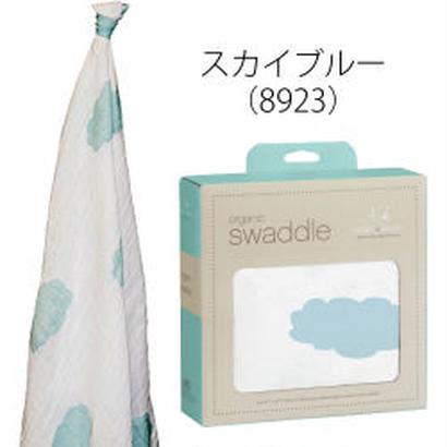 aden+anais / エイデン&アネイ 【日本正規品】 オーガニックコットンスワドル sky blue