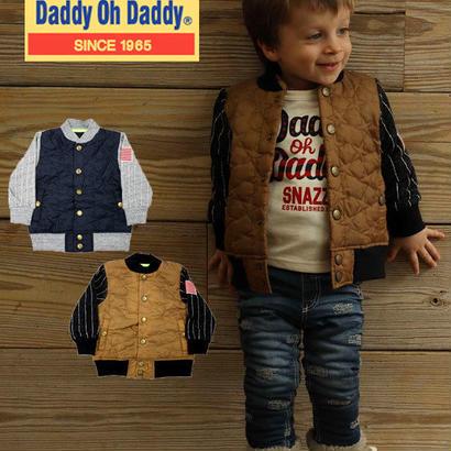 Daddy Oh Daddy  / ダディオーダディ 異素材mix 星柄 キルトジャンパー  90cm