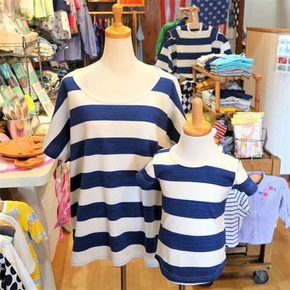 studio mini / スタジオミニ 先染めボーダーTシャツ ママ用Mサイズ