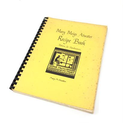 【古本】B030  Mary Meigs Atwater Recipe Book Patterns for Handweavers / Mary M. Atwater