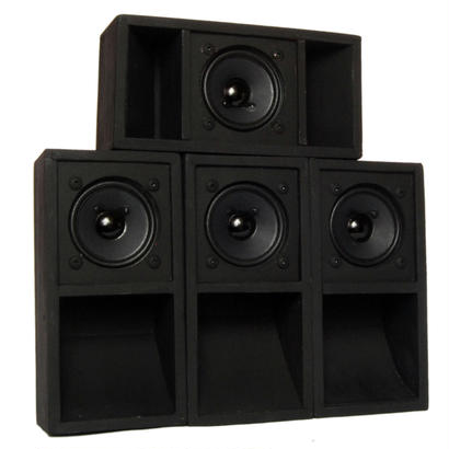 "4set ""MINI SOUND SYSTEM""  Back-loaded [BLACK]"