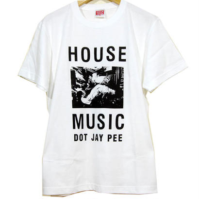 HOUSE MUSIC DOT JAY PEE TEE [WHITE]