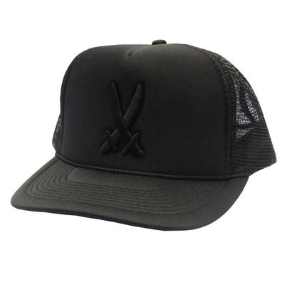 SHOGUN Cross Sword 3D MESH CAP [BLACK]