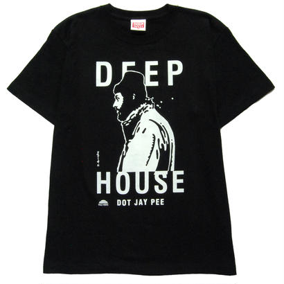 DEEP HOUSE DOT JAY PEE T-Shirt  [BLACK]
