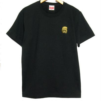 ONE POINT CHEECH T-Shirt  刺繍 7.1oz  H.W U.S.C  [BLACK]