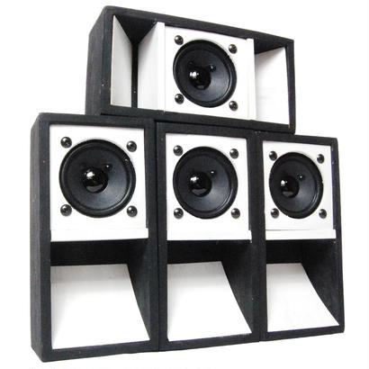 "4set ""MINI SOUND SYSTEM""  2TONE [BLACK & WHITE]"
