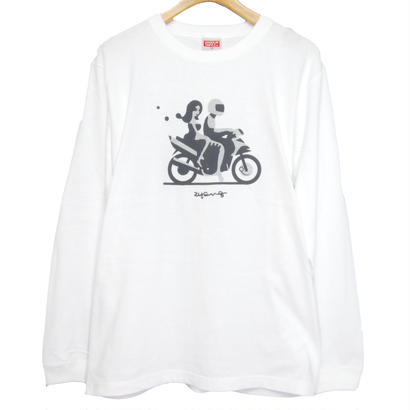 """CHANGUU RIDE"" Long Tee リブ [WHITE]"