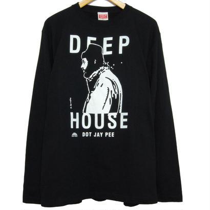 DEEP HOUSE DOT JAY PEE LONG TEE [BLACK]